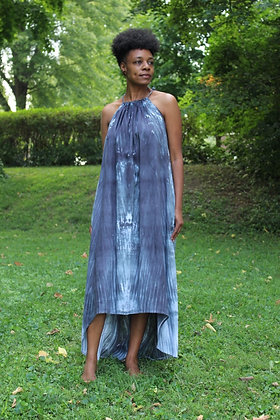 Hand-dyed Halter Style Maxi Dress