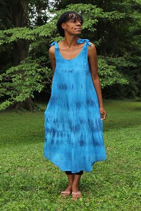 Hand-dyed Ocean Linen Tank Dress