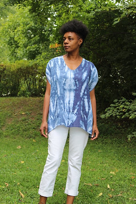 Hand-dyed Linen Boatneck Top