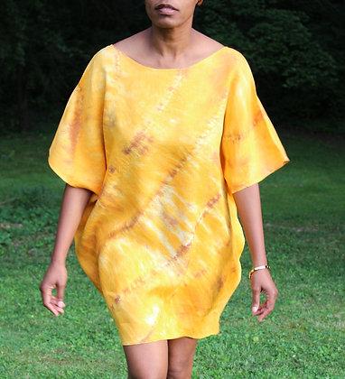 Hand-dyed Dolman Sleeve Tunic