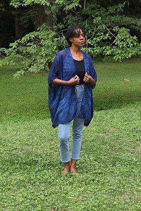 Hand-dyed Blue Cotton Kimono