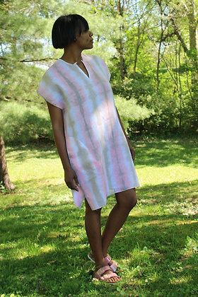 Hand-dyed Striped Linen Tunic