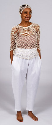 Netted Tunic Top