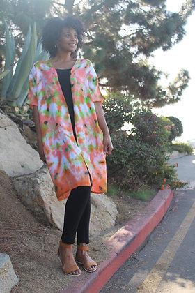 Hand-dyed Midi Cotton Kimono