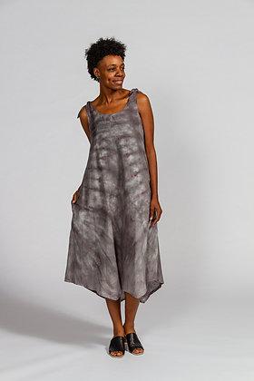 Hand-dyed Gray Linen Tank Dress