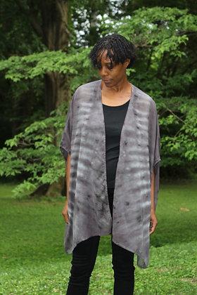 Hand-dyed Gray Cotton Kimono