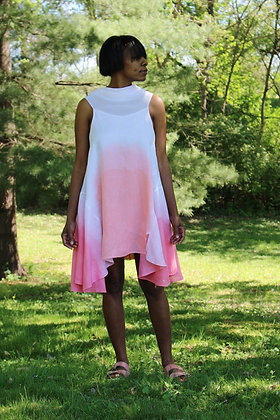 Dipped-dyed Cowl-neck Dress
