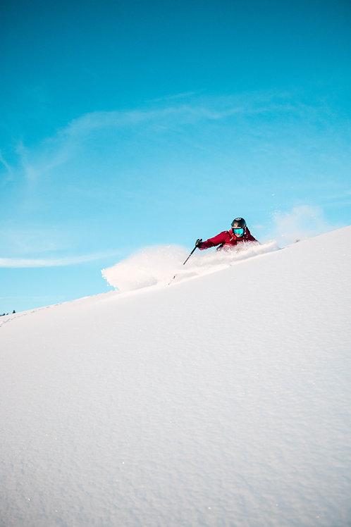 cadre photo skier powder 60X90