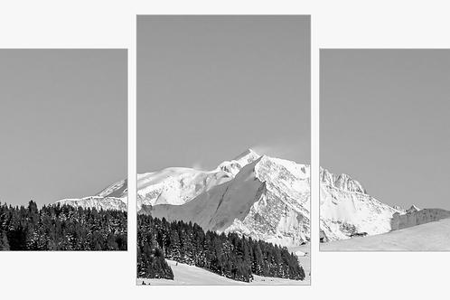 Triptyque Mont-Blanc BW