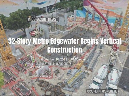 Metro Edgewater begins Vertical Construction