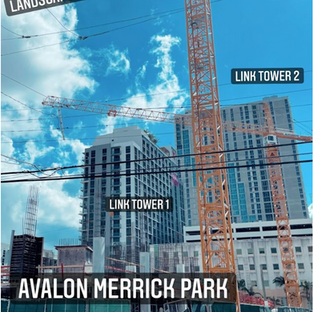 Avalon Merrick Park rising next to Metrorail Station