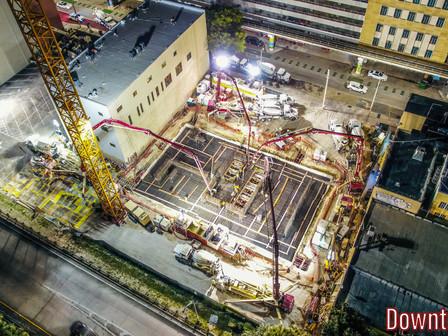 L&R poured DT1's Mat Foundation - 3,020 Yards