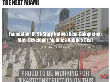 Natiivo is now officially under construction.