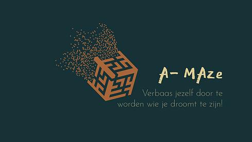 A-Maze - VDEF met naam - zwart-wit kopie