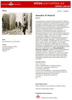 Instituto Cervantes Milano Madrid