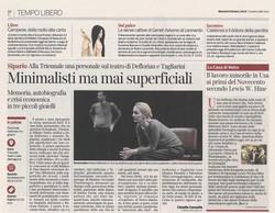 Corriere della sera Milano 8 ottobre 201