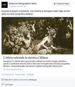 National geographic Italia FACEBOOK