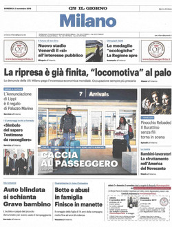 Il Giorno Milano 3 nov 2019 american kid