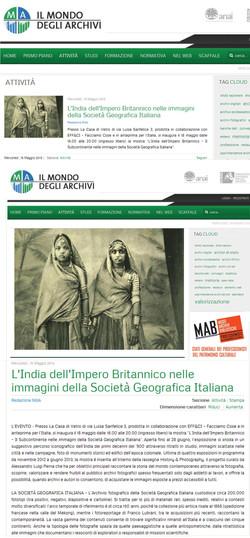 il mondo degli archivi - india impero britannico