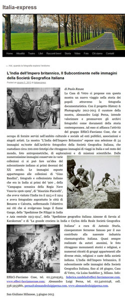 italia express - india impero britannico