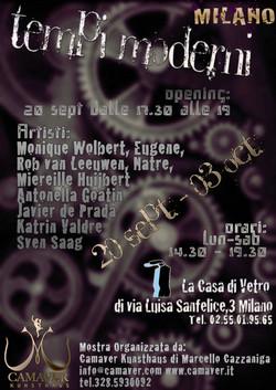 Tempi Moderni - collettiva di arte alla CasadiVetro 20 set - 3 ott 2014