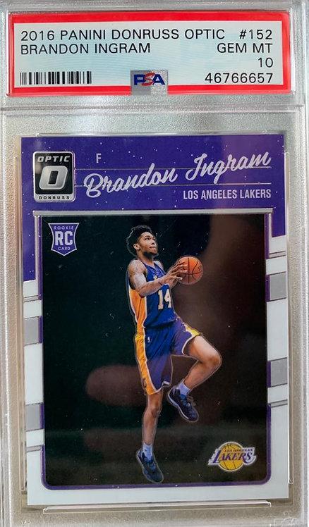 2016 Donruss Optic #152 Brandon Ingram Lakers RC Rookie PSA 10 GEM MINT