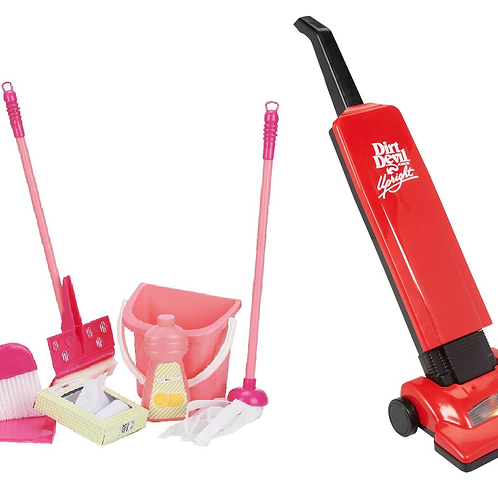 Dirt Devil Junior Play Upright Toy Vacuum Cleaner and Housekeeping Cleaning Play