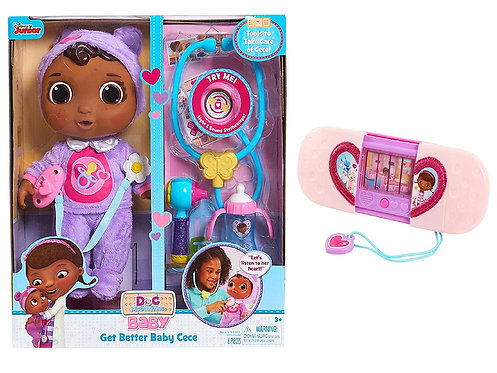 Junior Doc McStuffins Get Better Baby Cece Set and Toy Hospital Magical Toyspond