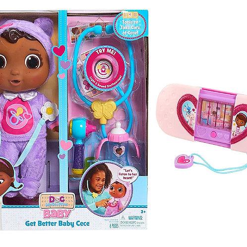 Junior Doc McStuffins Get Better Baby Cece Set and Toy Hospital Magical Toyspond