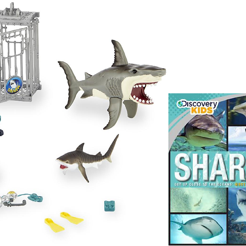 Animal Planet Shark Attack Adventure Playset and Sharks Discovery Kids Family Gu