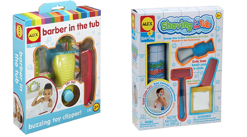 Alex Bath Toy Shaving in the Tub and Barber in the Tub Pretend Playsets