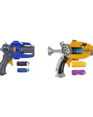 Slugterra, Eli's Blaster 2.0 Defender and Slugterra, Dr. Blakk's Blaster 2.0 wit