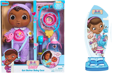 Doc Mcstuffins Get Better Baby Cece Doll and Storytime Theatre Press 'n Play: Di