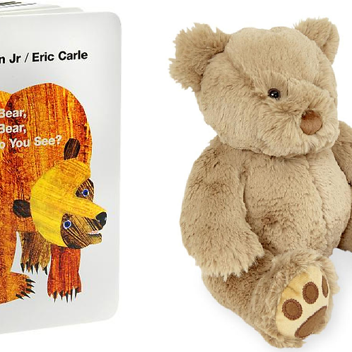 Brown Bear, Brown Bear, What Do You See? Board Book and Animal Alley 10 inch Cla