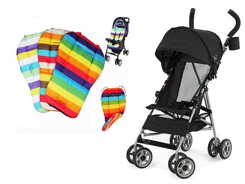 Kolcraft Cloud Lightweight Umbrella Stroller with Large Sun Canopy Black and Wat