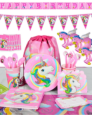 Unicorn Party Supplies Set