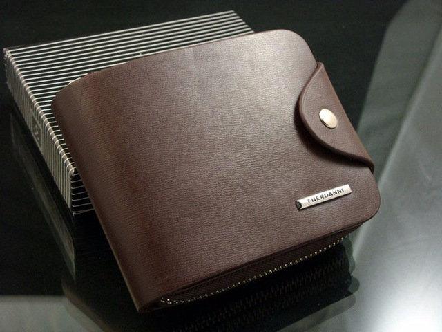 Luxury Men Wallets PU Leather ID Card Holder