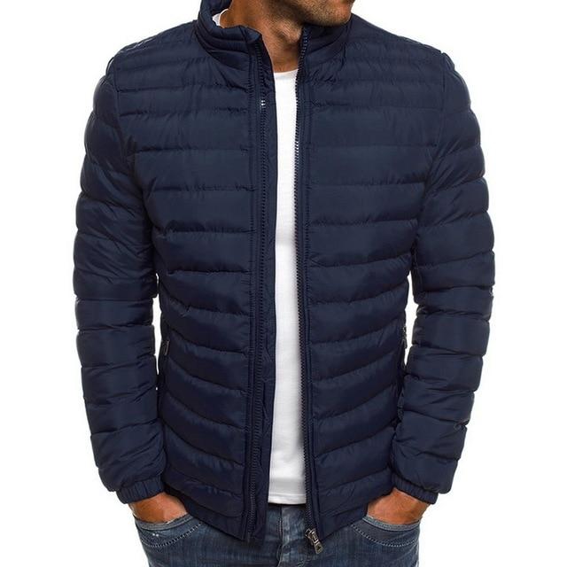 Thumbnail: Trendy Rhombus Winter Jackets Men O Neck Zipper