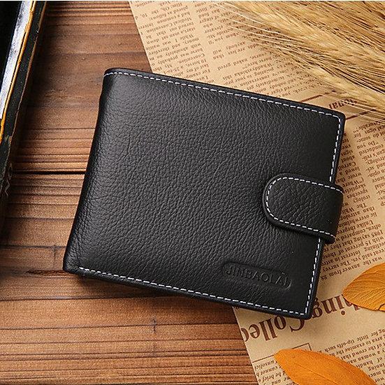 Men Wallets Short Bifold Business Leather Wallet