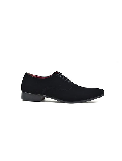 Men's Smooth and Slim Lace Up Formal Shoes Black Lami