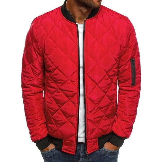 Trendy Rhombus Winter Jackets Men O Neck Zipper