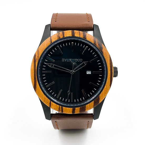 Inverness   Zebrawood   Brown Leather