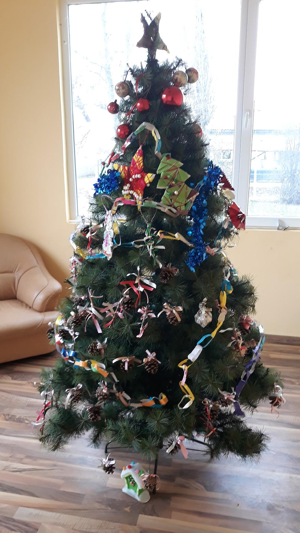 На 23. декември, в Къщата на семейството и общността,  с. Калитиново, една зелена елха заблестя в празнична премяна. Красивите  играчки, поставени по нейните клонки, бяха изработени в  Коледотворителницата в КЪЩАТА от децата и техните родители.