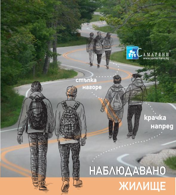 """""""Наблюдавано жилище"""" – гр. Стара Загора, е форма на предоставяне на социални услуги за оказване на подкрепа и консултиране на лица, навършили 18 години, които напускат специализирана институция, преходно жилище или защитено жилище и им предстои да водят независим начин на живот; както и за осъществяване превенция на настаняването на такива лица в специализирана институция. Тази социална услуга подкрепя и млади хора от общността, попаднали в рискова житейска ситуация или състояние на бедност, неподкрепени от страна на своето семейство или близките си. Услугите са основани на базисни принципи в социална работа, при прилагане на индивидуален подход и са съобразени с конкретните потребности на всеки неин потребител, във връзка с което се изработват концепции за предоставяне на услуги в краткосрочен или дългосрочен план.  Услугата """"Наблюдавано жилище"""" – гр. Стара Загора, разполага с две самостоятелни жилища, всяко от които е с капацитет 4 места. През последните 11 години, за периода м. април, 2010 г. - м. април, 2021 г., в услугата са били настанени общо 53 лица – 34 младежи и 19 девойки. От тях, 41 са израснали в социални институции, а 12 са били отглеждани в семейна среда.  От всички ползватели на услугата НЖ, 17 са били със завършено средно образование, 29 – със завършено основно образование, 3 – със завършено начално образование, 2 – без завършена степен на образование и 2 младежи – съответно учещи в XII клас и в XI клас – на ресурсно подпомагане.  През изтеклите 11 години, на потребителите е оказвано нужното съдействие при търсенето и намирането на подходящо работно място. Към момента на съответното им настаняване, само 8 от младежите са били трудово заети, а за упоменатия по-горе период, 21 души са започнали трайно работа на трудов договор, а други 18 души са имали ангажименти по трудови правоотношения, макар и да са били непостоянни и спорадични.  Младежите са били информирани и подробно запознати с възможността да кандидатстват за общинско жилище. При заявено жел"""