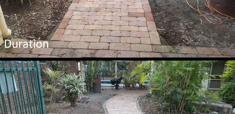 In the process and after paving