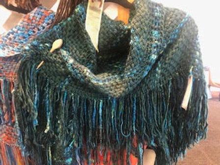 Green & Blue Shawl by Roberta Thornton