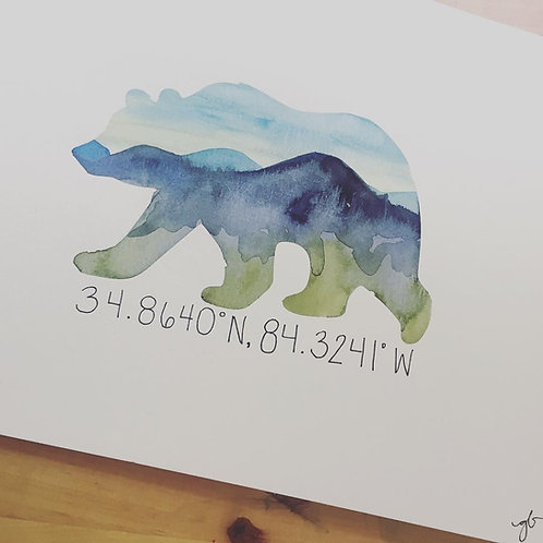 Blue Ridge Georgia Bear Postcards