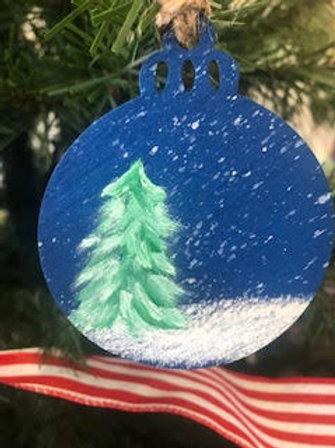 Snowy Tree Ornament by Brian