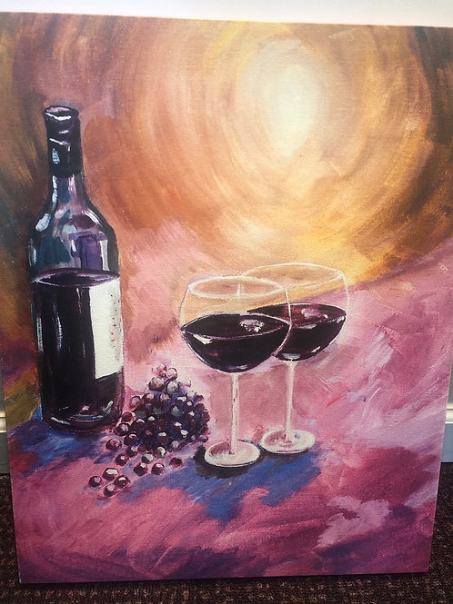 A Little Wine on My Canvas