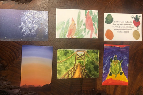 Mixed Post Card Set by Various Artists with Autism (set of 12)